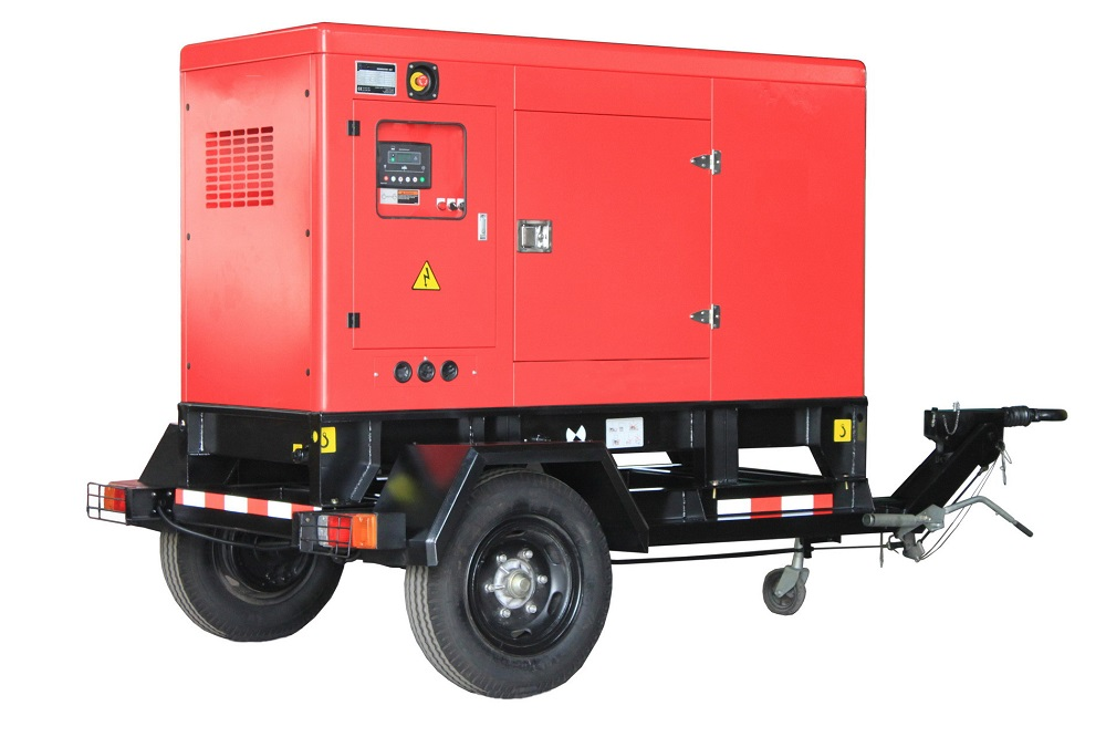 50kw generator set 62.5kva Cummins with Movable Trailer
